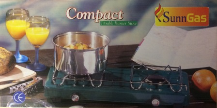 Compact Double Burner Stove